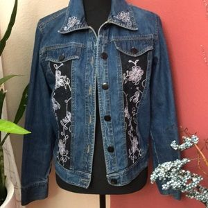EUC- New Identify - Embelished Jean Jacket